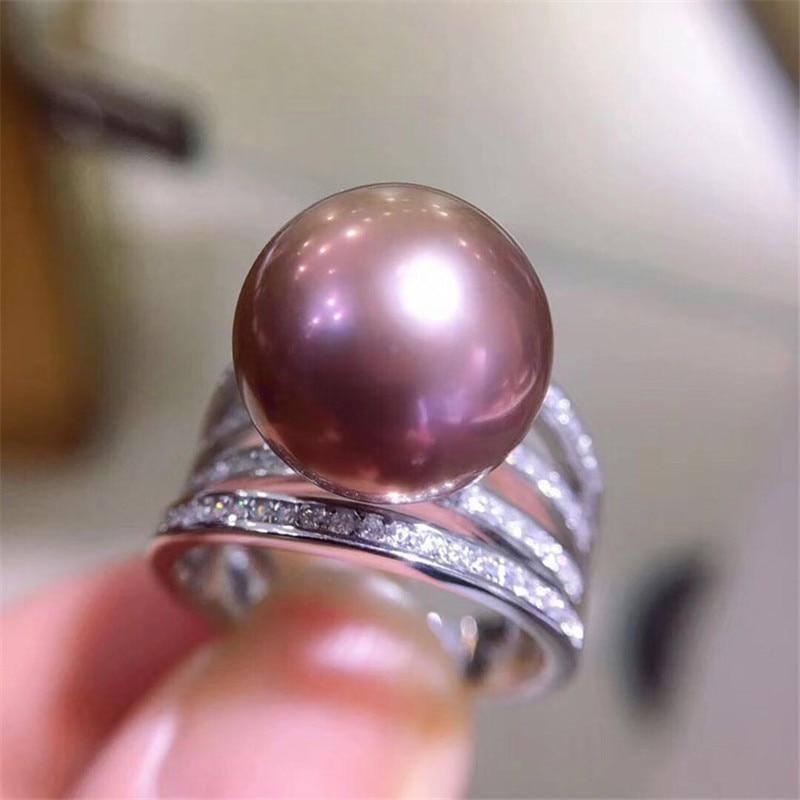 Classic Rings Mounting Beads Resizable Design Rings Base 925 Silver Pearl Rings Settings Women DIY Pearl Ring Accessory No Pearl