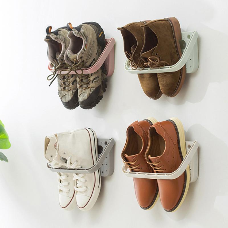[해외] 30 원활한 벽 마운트 구두 랙 홈 스토리지 3 차원 벽 슬리퍼 선반 하이힐 스포츠 신발 스토리지 랙