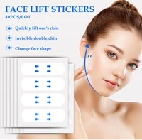 40pcs invisible thin face stickers waterproof and breathable fast lift up firm skin chin adhesive tape v shape face