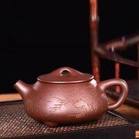 high end famous yixing purple sand stone gourd ladle teapot yixing purple clay teapot figure handmade tea tea products