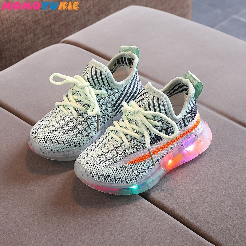 lighted toddler baby kids shoes for boys girls training children's shoes light up sneakers tenis inf