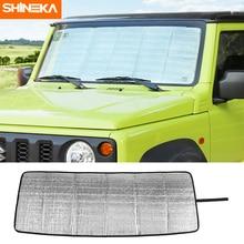 SHINEKA pare-brise pare-soleil pour Suzuki Jimny JB74 2019 + voiture avant pare-brise pare-soleil couverture accessoires pour Suzuki Jimny 2019 +