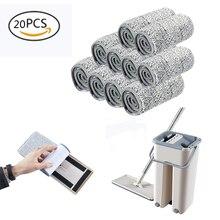 Vadrouille de sol en microfibre 5/10/20 pièces   Remplacer la vadrouille de chiffon, pâte de nettoyage et humide, vadrouille de nettoyage à sec, vadrouille de sol, salle de bain à domicile