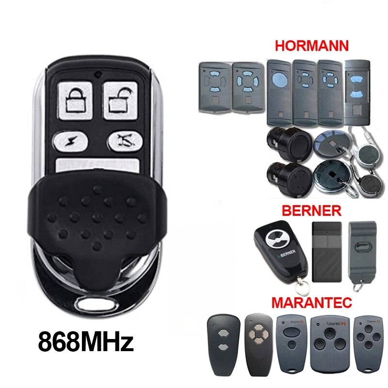 HORMANN HSE2 HSM4 868 Marantec Digital 382 garage door remote controller Compatible MARANTEC 131 D302 D304 D313 D323 D321 868mhz недорого