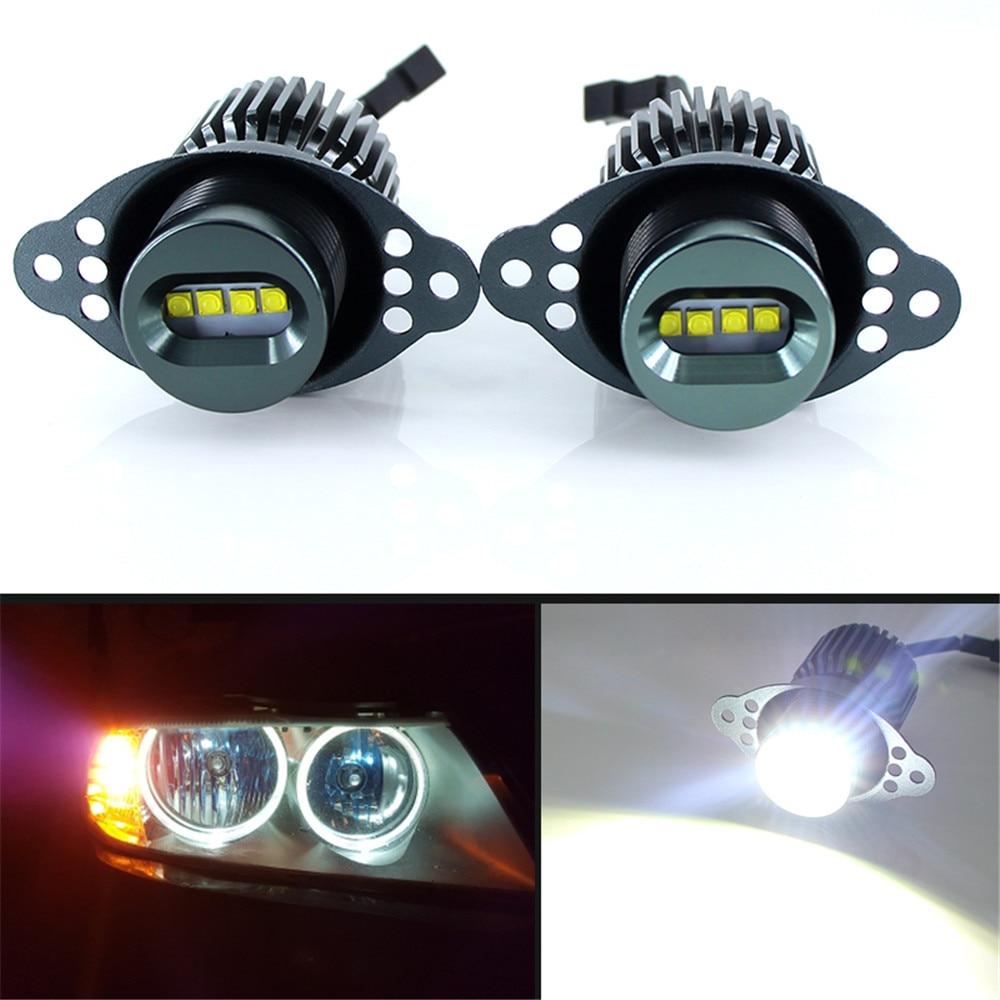 2 uds 80W LED Ojos de Ángel Halo marcador anillo bombilla Canbus para BMW E90 E91 318i LCI 09-11 DRL diseño de coche sin errores