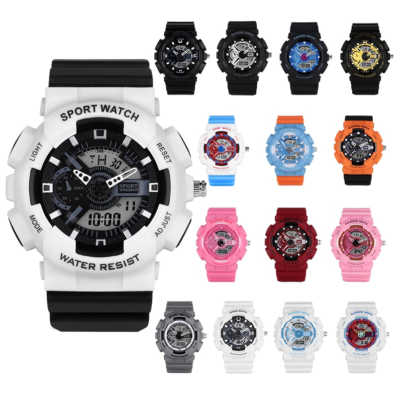 Sport Watches Men High Quality Fashion Digital Led Digital Watch Waterproof Watchbands Wrist Watches