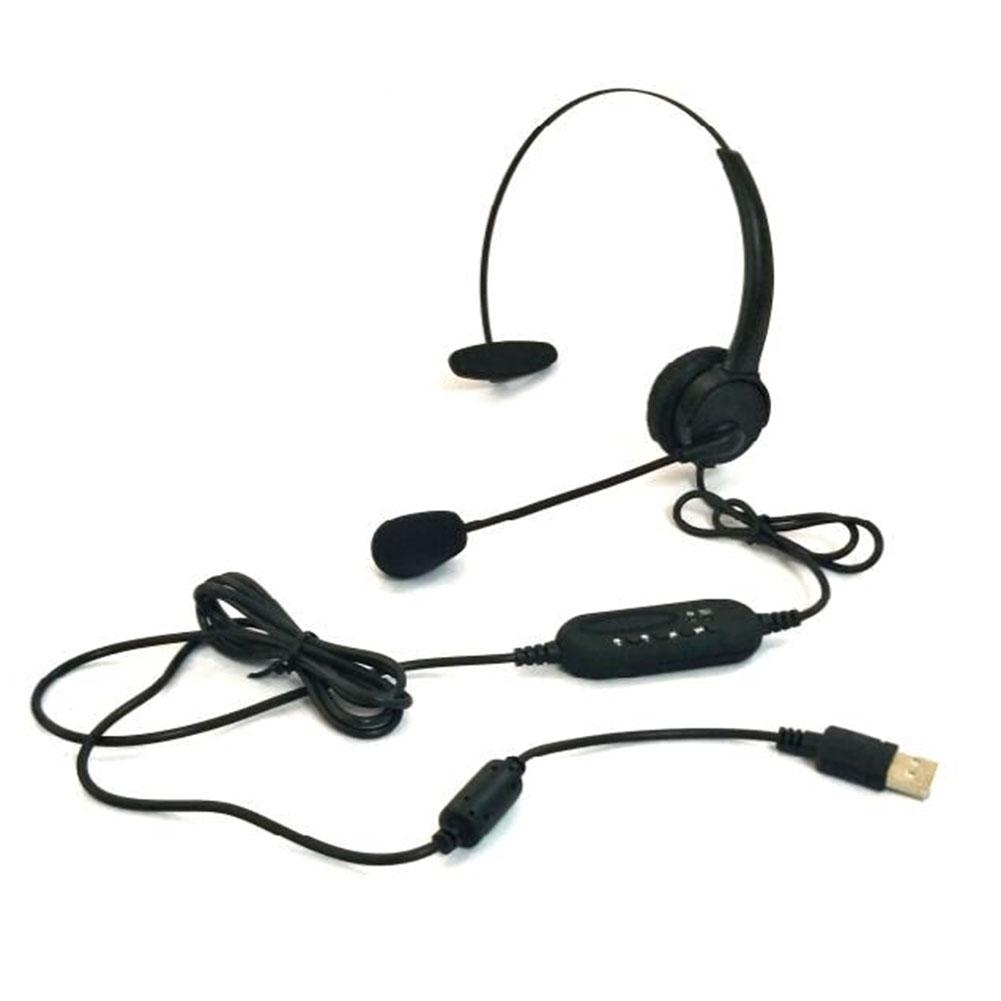 Computer Headset With Microphone USB Traffic Headset USB Port Noise Cancelling Headphone With Rotatable Mic For PC enlarge
