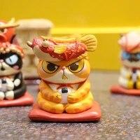 6pcs bubble cat model toy plastic neko figurine miniature cat christmas gift house bedroom desktop decoration