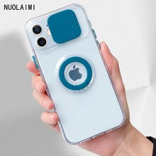 Armor Ring Bracket Lens Camera Protective Case for iPhone 11 12 Pro Max Mini X XS MAX XR 7 8plus SE
