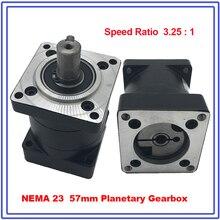 Nema23 boîte de vitesse planétaire   Ratio de réduction planétaire à moteur 13, boîte de vitesse à moteur 57mm, réducteur de vitesse à moteur, haute qualité!