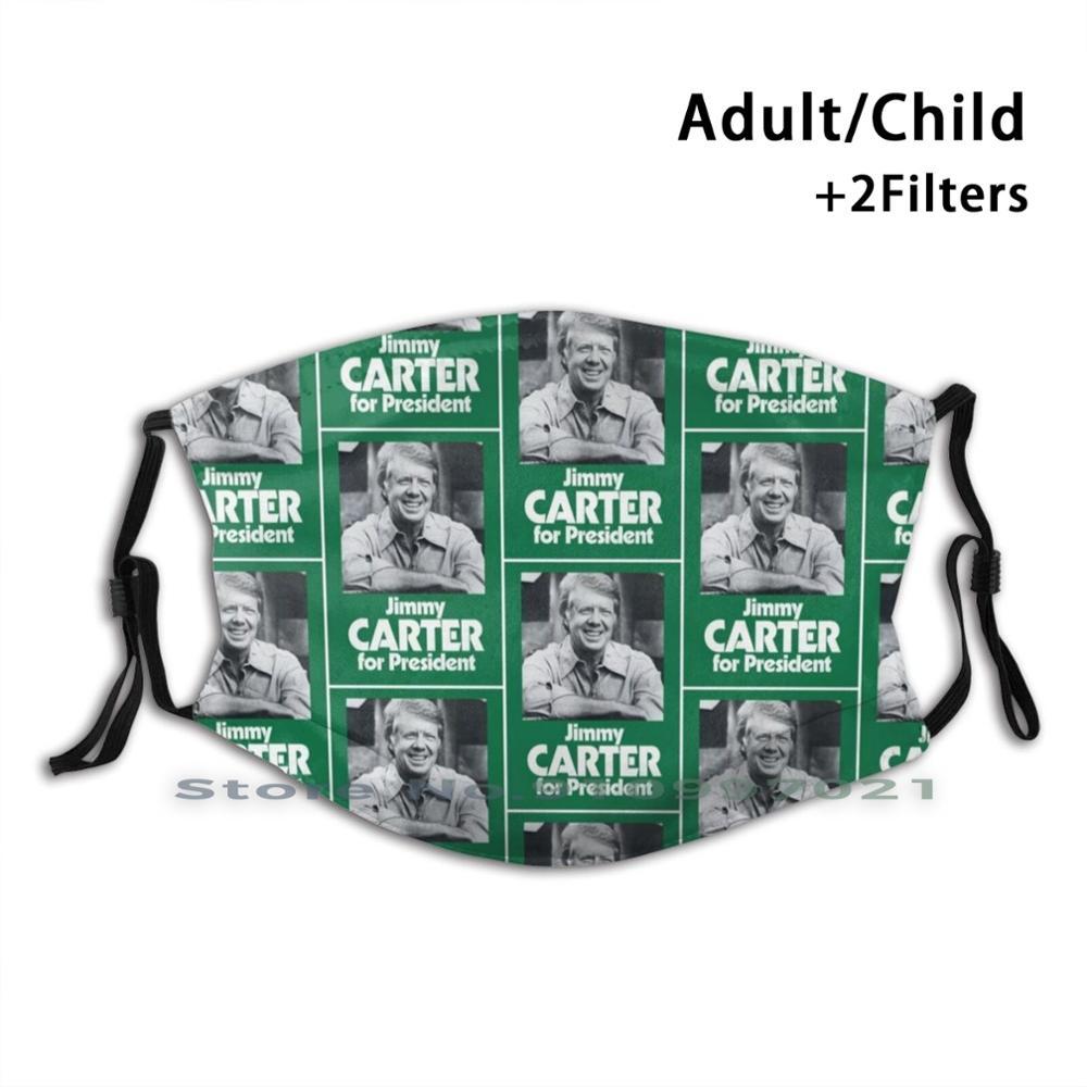 Jimmy Carter For President Custom Design For Child Adult Mask Anti Dust Filter Print Washable Face Mask James Earl Jimmy Carter
