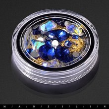Nail Art Decoration Transparent ABS Rhinestone Crystal Glass Diamond Jewelry Tip Shaped Diamond 3D DIY Nail Accessories