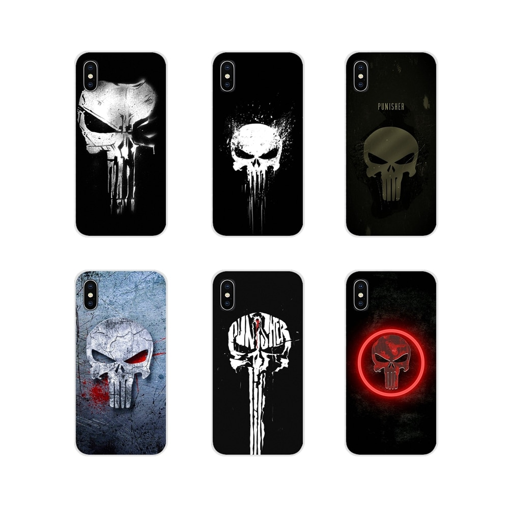 Comic The Punisher-funda de Metal transparente para Huawei, funda suave para Huawei...