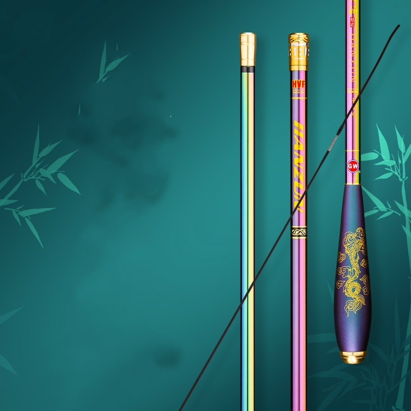 High Carbon Fiber Carp Fishing Rod Ultra-light Super Hard Hand Pole Insert Section Fishing Stick Gear Pesca 2.7m 3.6m 3.9m 4.5m enlarge