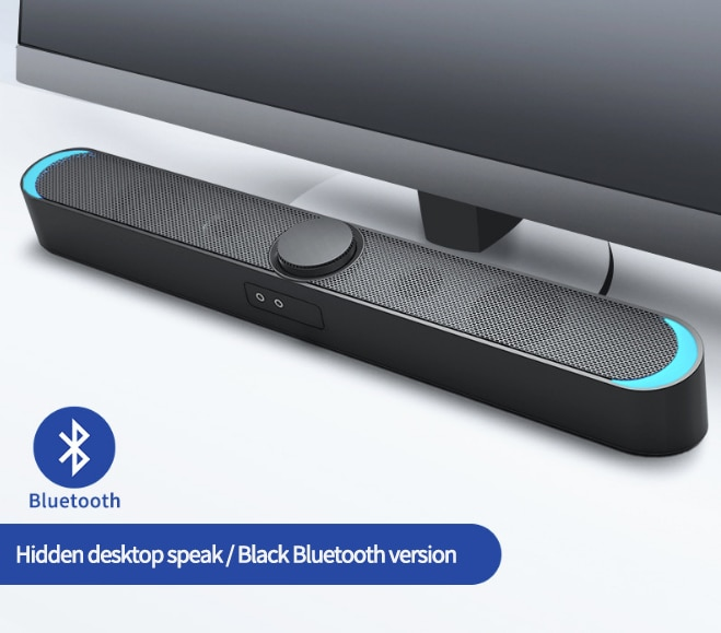 USB Wired Powerful Computer Speakers Sound Box 3D Surround Soundbar Bluetooth 5.0 Speaker for Laptop PC Theater TV Aux 3.5mm