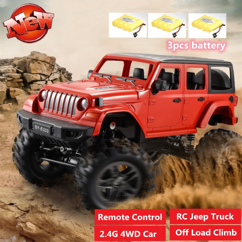 High Quality 2.4G Remote Control SUV Truck Model Land Rovers Defender Car off load climb Electric Charging Car with 3pcs battery