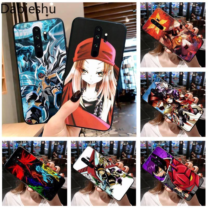 Anime rey chamán de silicona teléfono negro para Redmi Note 9 8 8T 8A 7 6 6A ir Pro Max Redmi 9 K20 K30