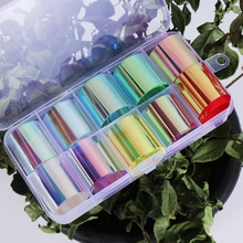 New Aurora Film Glass Paper Nail Foil Stickers Holographic Design DIY Manicure Decoration Women Beau