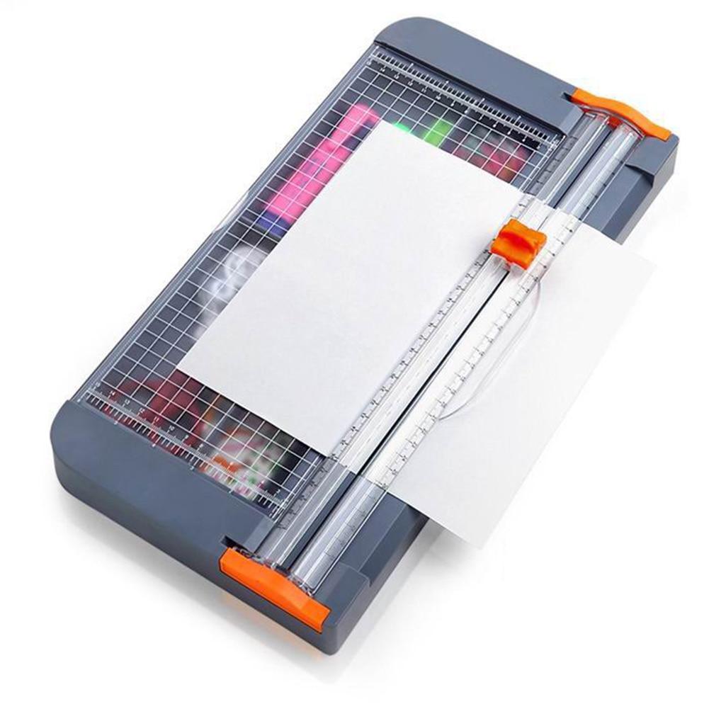 Cortadora rotativa de papel guillotinas de papel máquina de corte de tarjetas fotográficas con regla de corte de ángulo de cuadrícula de azulejos para A2 A3 A4 A5