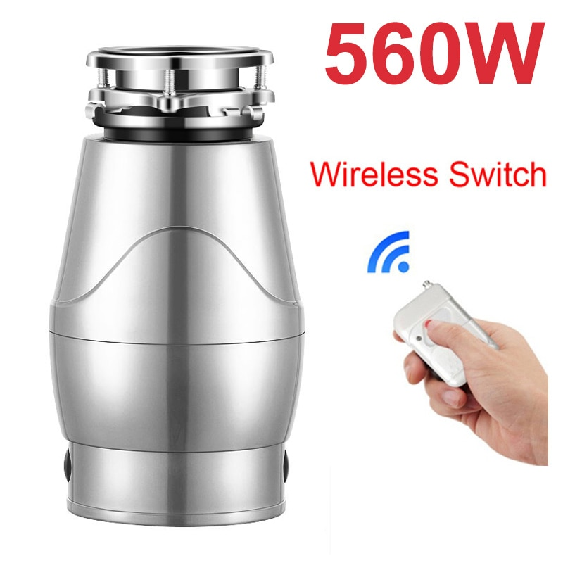 New Stainless Steel Food Processing, Kitchen Waste Processing, 560W Kitchen Waste Shredder, Food Waste Shredder 1200ml smart food waste disposer remote switch food shredder kitchen appliances stainless steel shredder material waste disposal
