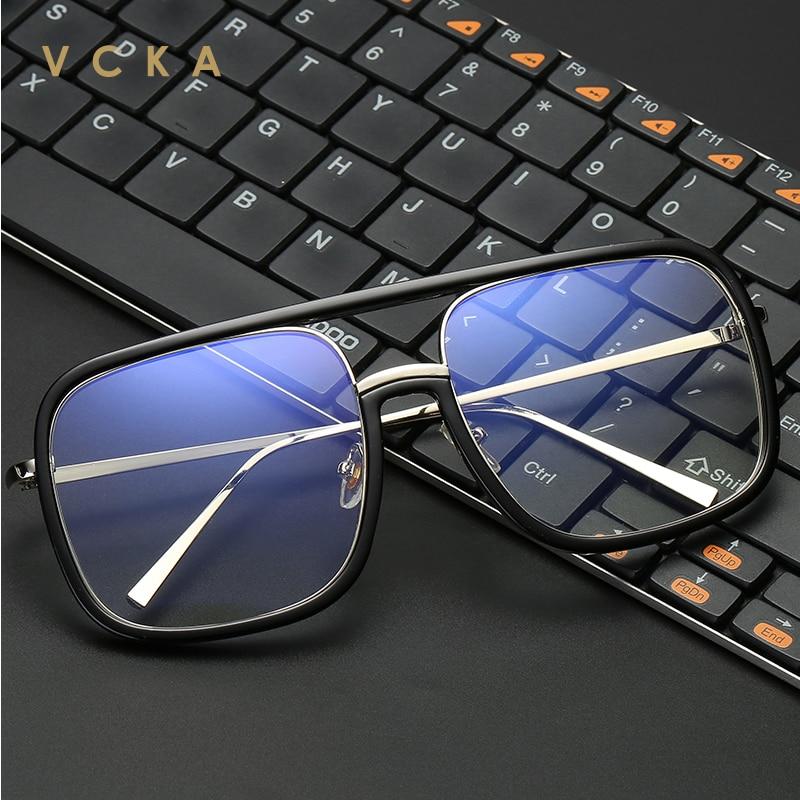 VCKA Anti-rayons bleus lunettes femme lunettes ordinateur Gaming oeil de chat alliage bloquant résistant aux rayonnements homme lecture lunettes