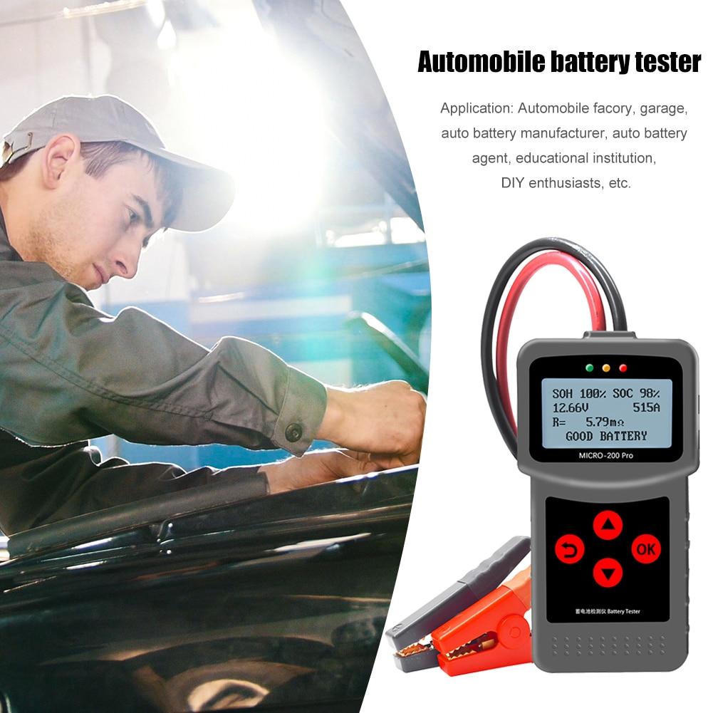 Micro-200 Pro 12V Car Battery Tester Digital CCA BCI CA MCA IEC Battery Analyzer Portable Diagnostic Universal Tool