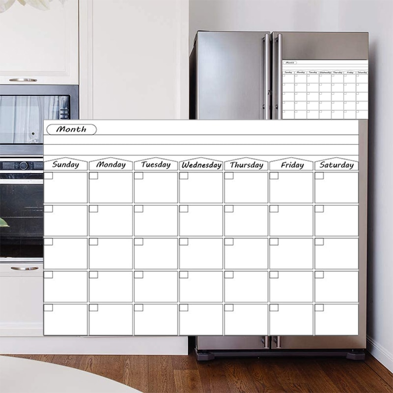 A3 Size Dry Erase Magnetic Weekly&Monthly Planner Calendar Whiteboard Message Writing fridge memo magnet Bulletin White board