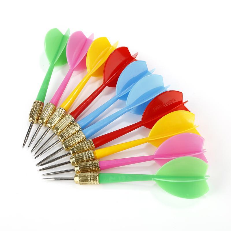 Suministros de entretenimiento para juegos en casa, dardos de 10 uds, dardos de ala de plástico, aguja de Chico, tono de lanzamiento, ejes de punta, equipo para juguetes, 5 colores