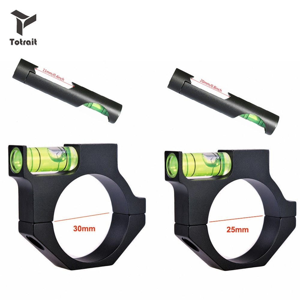 TOtrait 11mm/20mm/25.4mm/30mm Rifle Airgun Scope Ring Bubble Level for Airsoft Hunting Gun Rifle Scope Mount Adapter