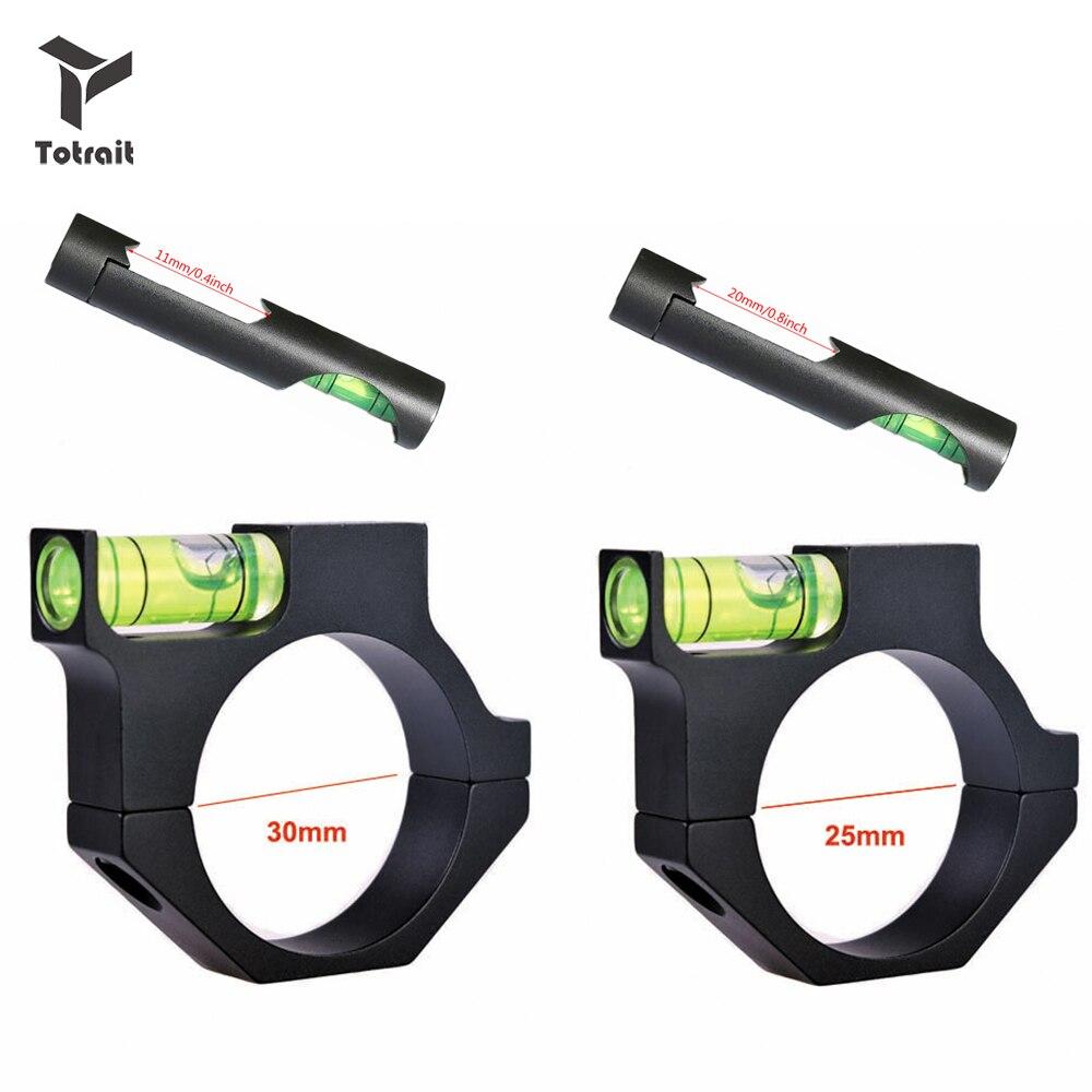 TOtrait 11 мм/20 мм/25,4 мм/30 мм прицел для винтовки, воздушно-пузырьковый уровень для страйкбола, охотничьего ружья, адаптер для винтовки