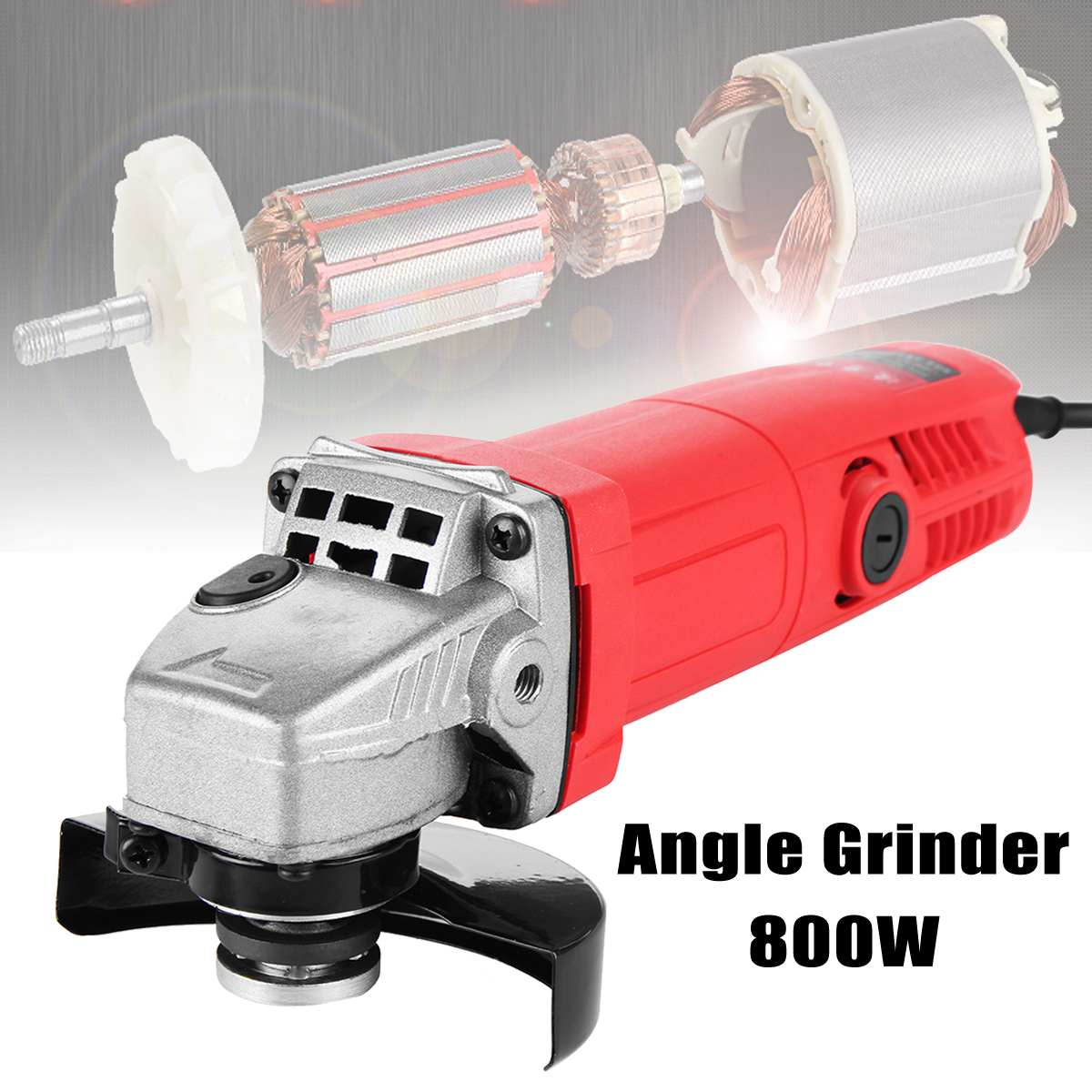 800W 220V 100mm Portable Electric Angle Grinder Muti-Function Household Polish Machine Grinding Cutting Polishing Machine