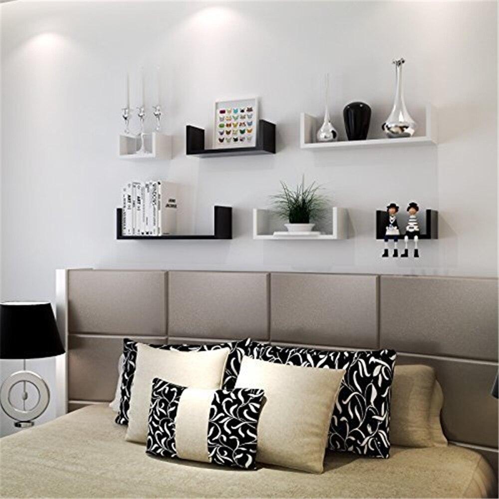 Купить с кэшбэком Set of 3 Floating Display Shelves Ledge Bookshelf Wall Mount Storage Home Dcor for Book Photo Toy Awards CD
