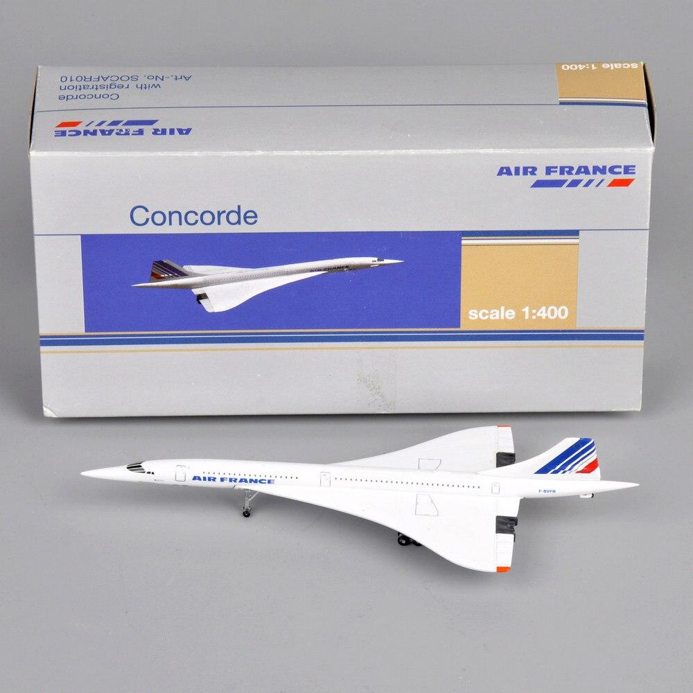 Crianças brinquedos aeronaves concorde 1 400 ar frança 1976-2003 diecast metal branco veículos mini avião para presente das crianças