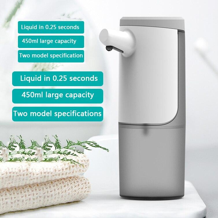 Distributeur automatique de savon liquide de 450ml, Machine à laver les mains, étanche, sans contact, Rechargeable par USB, pour la cuisine et la salle de bains