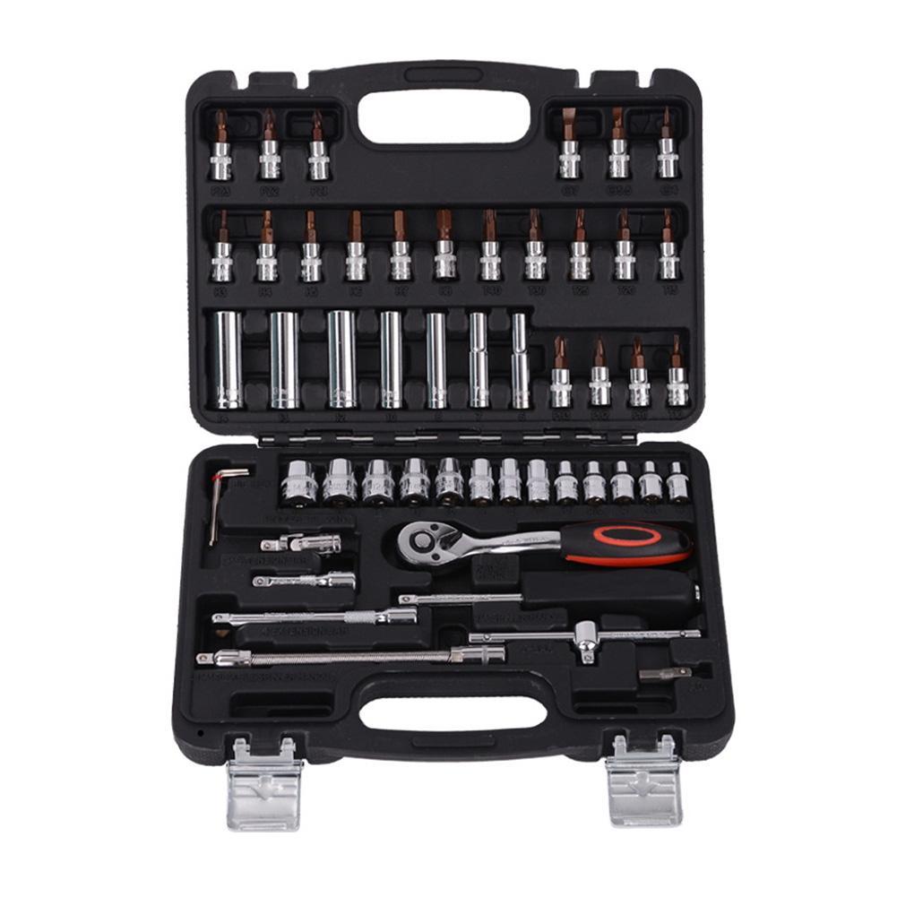 Juego de llaves de 12/53/153 Uds., herramientas de reparación para coches, barcos y motocicletas, herramientas de reparación para bicicletas y coches