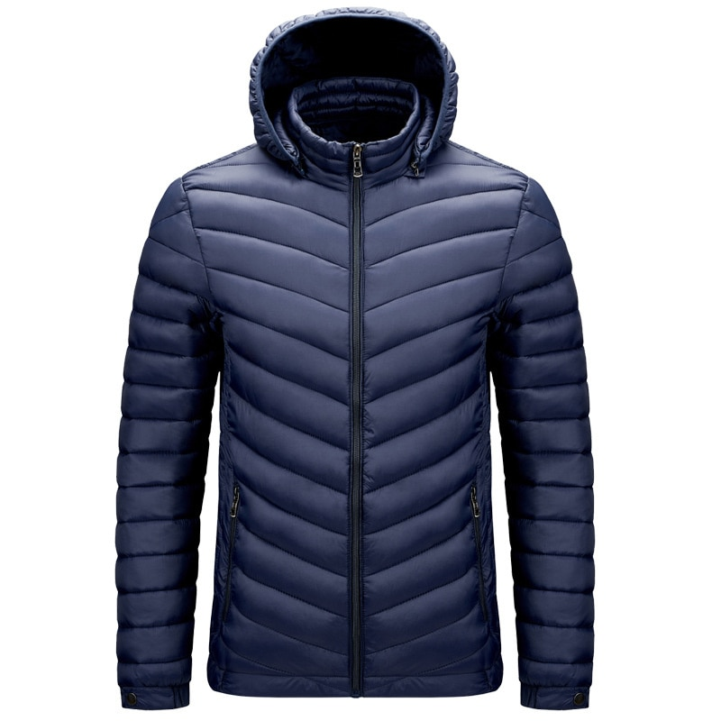 Классическая мужская хлопковая куртка со съемной шапкой, мужская хлопковая куртка, Мужская большая