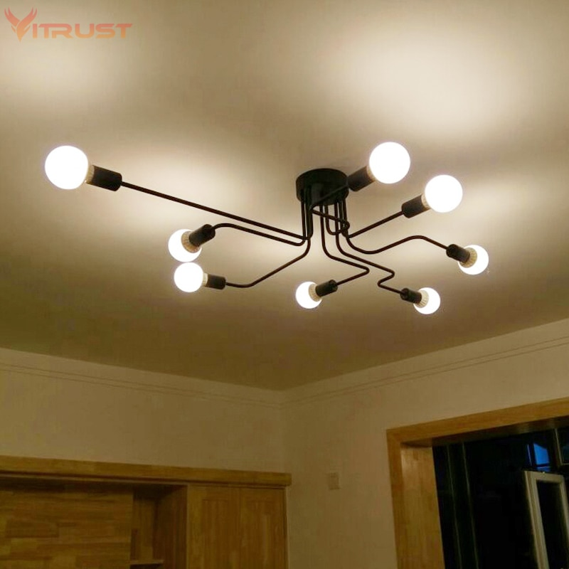 Lámparas De Techo Retro Para sala De estar, accesorios De iluminación De...
