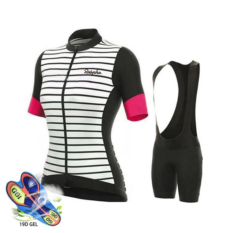 Ralvpha Ropa de mujer 2020 Pro equipo Ciclismo Jersey 19D Gel bicicleta...