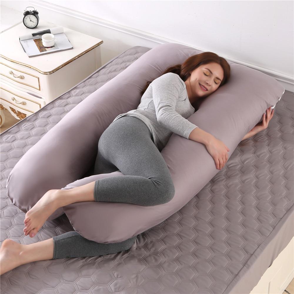 وسادة حمل العناق U-شكل كامل وسادة للجسم وسادة طويلة الجانب النائم النساء الحوامل البطن دعم الأمومة النوم الوسائد