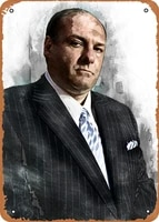oulili vintage metal sign tony soprano print movies 8 x 12 inches tin sign for home bar pub garage decor gifts