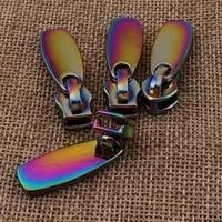 10 pcs rainbow head zipper slider puller long pull zipper heads loose sliders pulls handbag hardware bag supply sewing 5