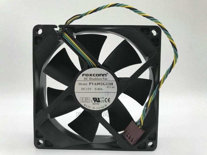 Pwm cpu ventilador de refrigeración Original para Foxconn 9025 PVA092G12H DC12V 0,40a 4 pines PWM gran ventilador de volumen de aire
