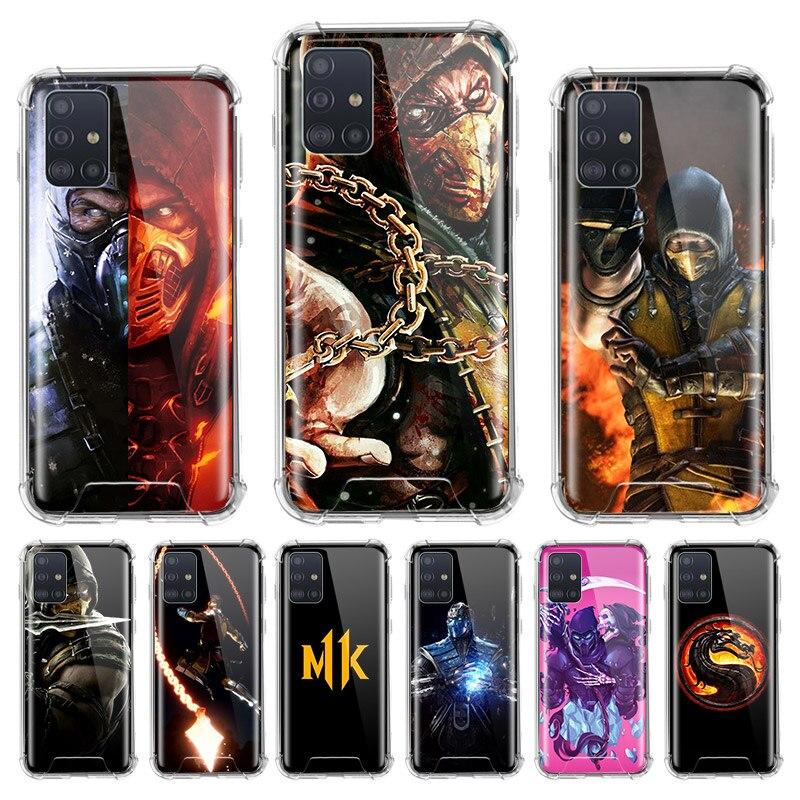 Mortal Kombat caso para Samsung Galaxy A71 A51 M31 A41 A31 A21 A11 A01 M51 M21 M11 Airbag Anti vivienda teléfono cubre