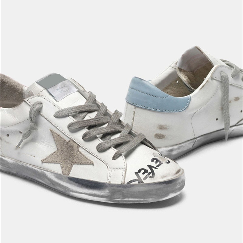 Autumn New Products Leather Retro Old Small Dirty Children's Shoes Hand-painted Letters Graffiti Casual Parent-child Shoes QZ78 enlarge