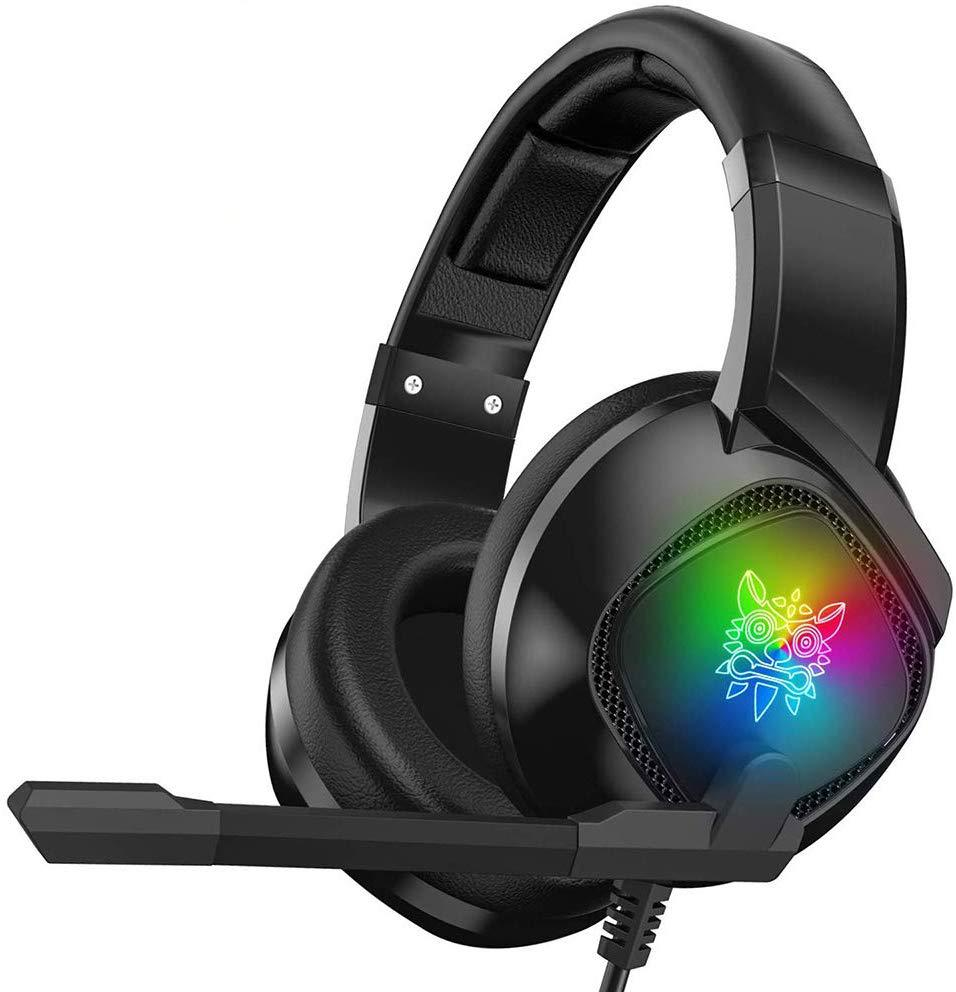 Gaming Headset Wired Headset PS4 Microphone Stereo Earphone RGB Bass Head-Mounted Game Headphones Fo