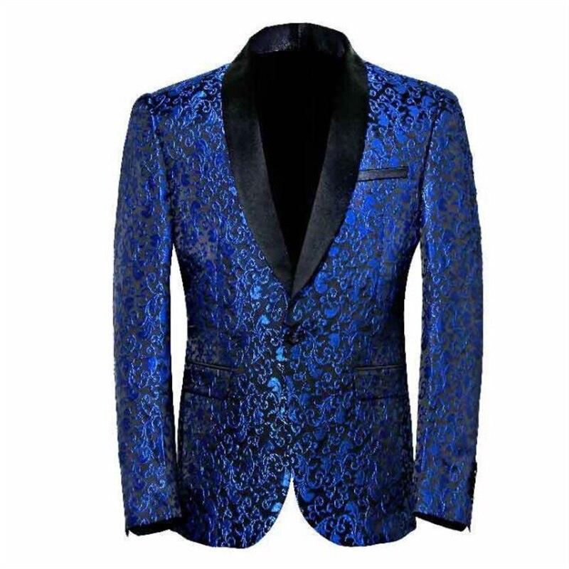 Traje de jacquard a la moda para hombre, chaqueta masculina de corte...