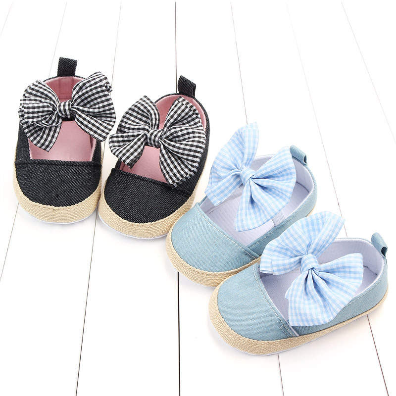 Wecute, zapatos de verano para niños, zapatos de cuna blandos para bebés recién nacidos, zapatillas antideslizantes con lazo grande, Prewalker 0-18M