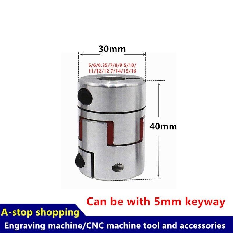 1 Uds CNC eje de mordaza de Motor acoplamiento Flexible araña plum acoplamiento D30 L40 agujero interior/4/5/6/6/35/7/8/9/5/10/11/12/14/15/16mm