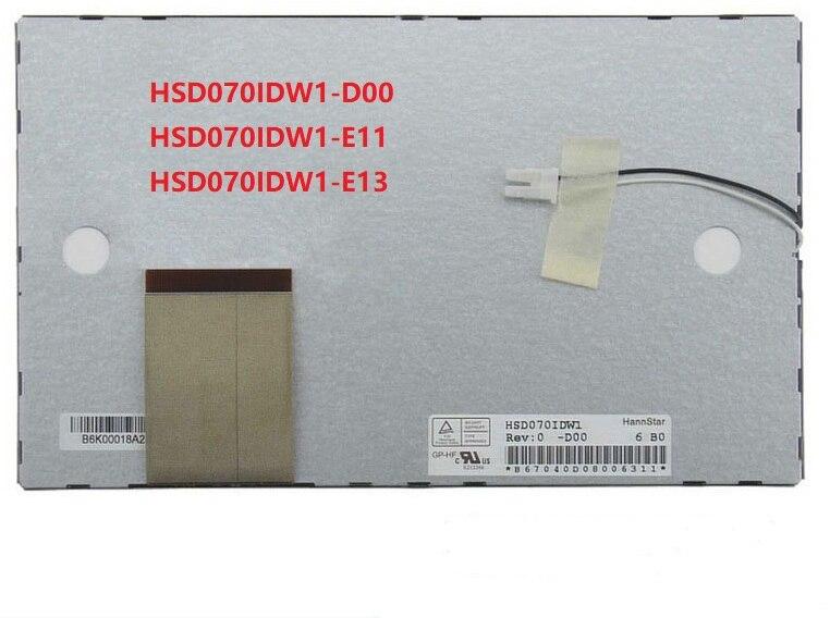 Original 7 polegada lcd cor para hannstar HSD070IDW1-D00 HSD070IDW1-E11 HSD070IDW1-E13 navegação do carro dvd substituição da tela