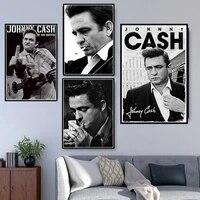 Affiche murale avec impression Johnny Cash Rock Star pour decoration de maison